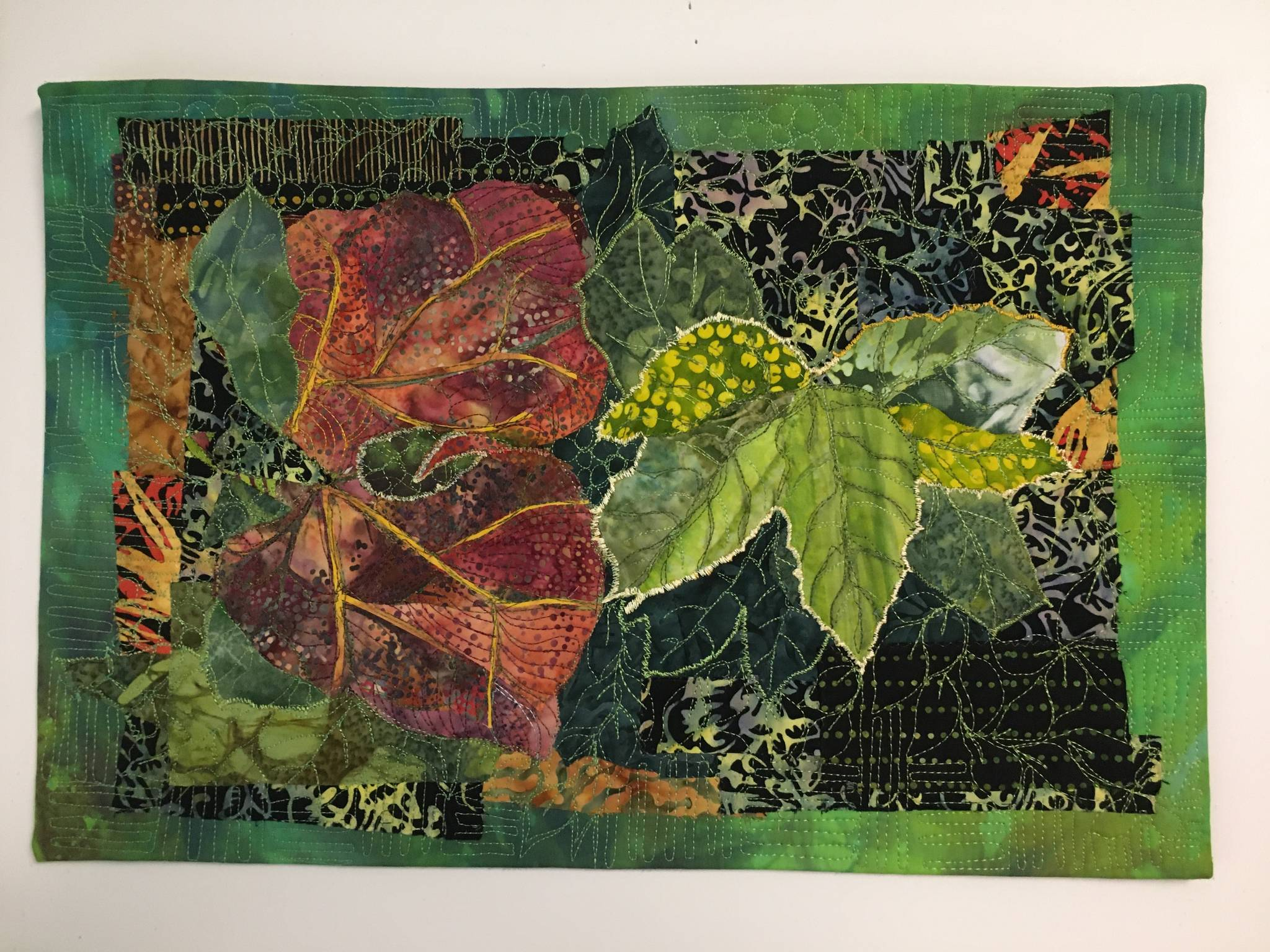 """""""Reaching for Light,"""" by Liisa Fagerlund, a member of the North Peninsula chapter of the Surface Design Association, is on display through October at the """"Farm. Fresh. Art."""" exhibit in Port Townsend. Submitted art"""